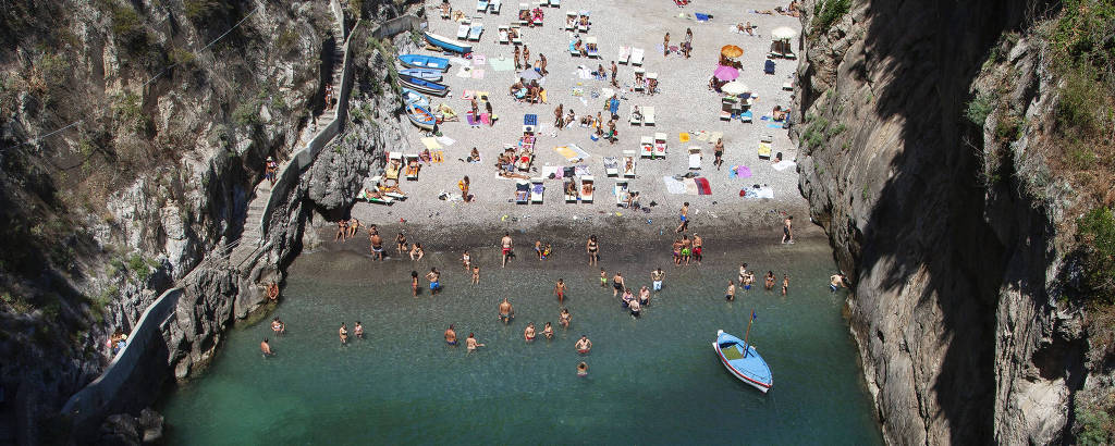 Praia de Fiordo di Furore, na Costa Amalfitana