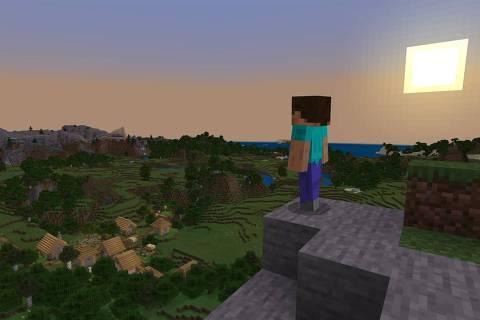 Jogo Minecraft, disponível no Xbox Game Pass