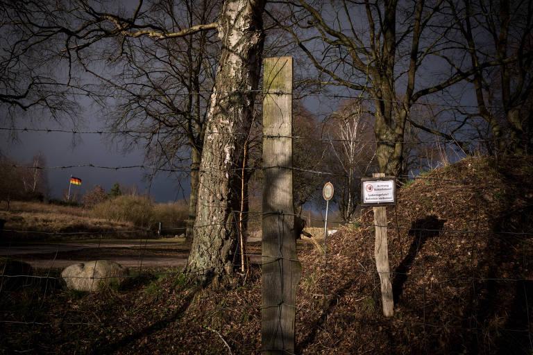 Clube de tiro em Gustrow, onde membros do grupo neo nazista Nordkreuz se reuniam