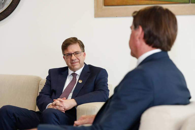 Embaixador dos Estados Unidos no Brasil, Todd Chapman, e o presidente Jair Bolsonaro