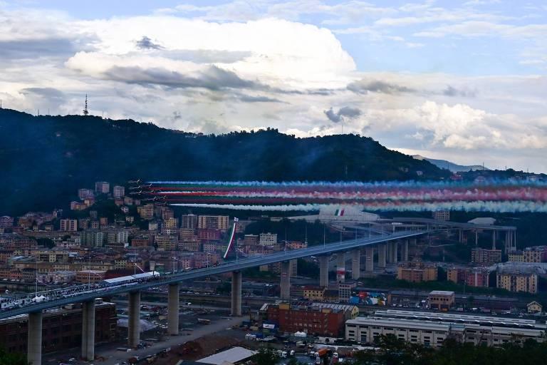 Itália inaugura nova ponte em Gênova sem presença de familiares das vítimas
