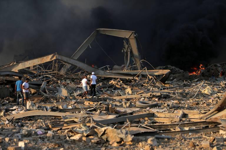 Grande explosão atinge Beirute, capital do Líbano
