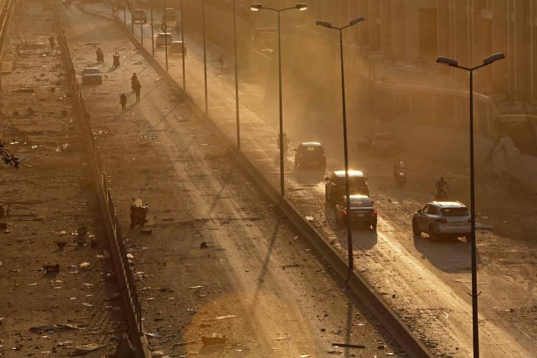 Grande explosão em Beirute, capital do Líbano, em 4 de agosto