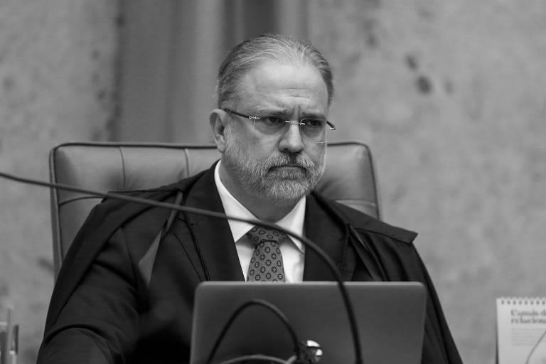 O procurador-geral da República, Augusto Aras, durante sessão no plenário do STF (Supremo Tribunal Federal)