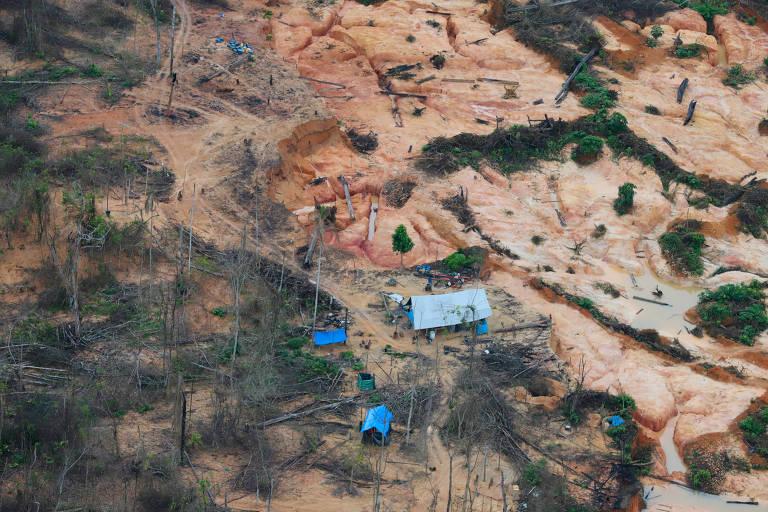 Invasão de mineradores nas terras dos indígenas Yanomamis