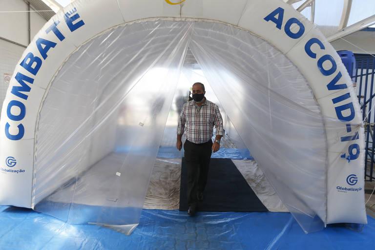 Túneis de desinfecção