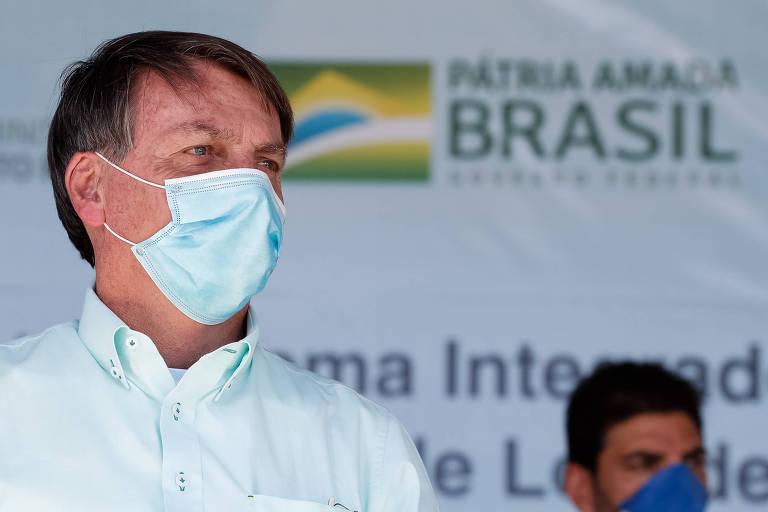 Presidente Jair Bolsonaro em cerimônia alusiva ao acionamento do sistema integrado de abastecimento de água de Campo Alegre de Lourdes