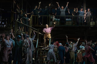 Eric Owens, as Porgy, in ÒPorgy and Bess,Ó in New York, Sept. 12, 2019. (Sara Krulwich/The New York Times)