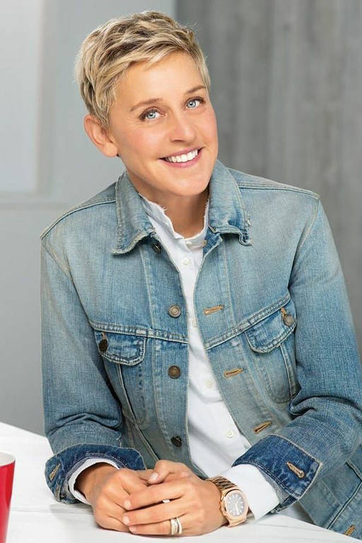 Imagens da apresentadora Ellen DeGeneres