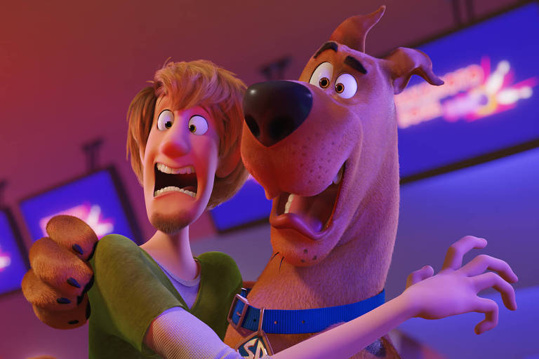 """Cena de """"Scooby! O Filme"""", baseado no clássico personagem Scooby-Doo"""