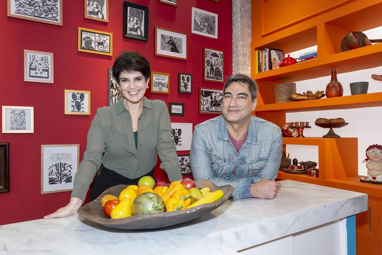 Mariana Godoy com Zeca Camargo