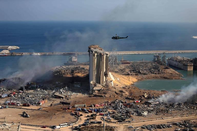 Uso de bomba é investigado como possível causa da explosão em Beirute, diz presidente do Líbano