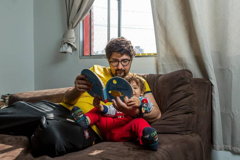 Fabio Bezerril Cardoso e o filho, Caetano de 1 ano