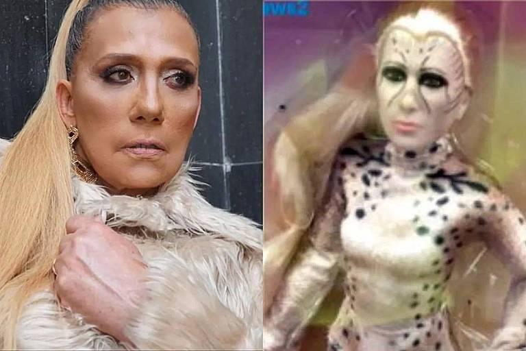 F5 - Você viu? - Boneca da Mulher-Leopardo viraliza na web por semelhança  com Rita Cadillac - 07/08/2020