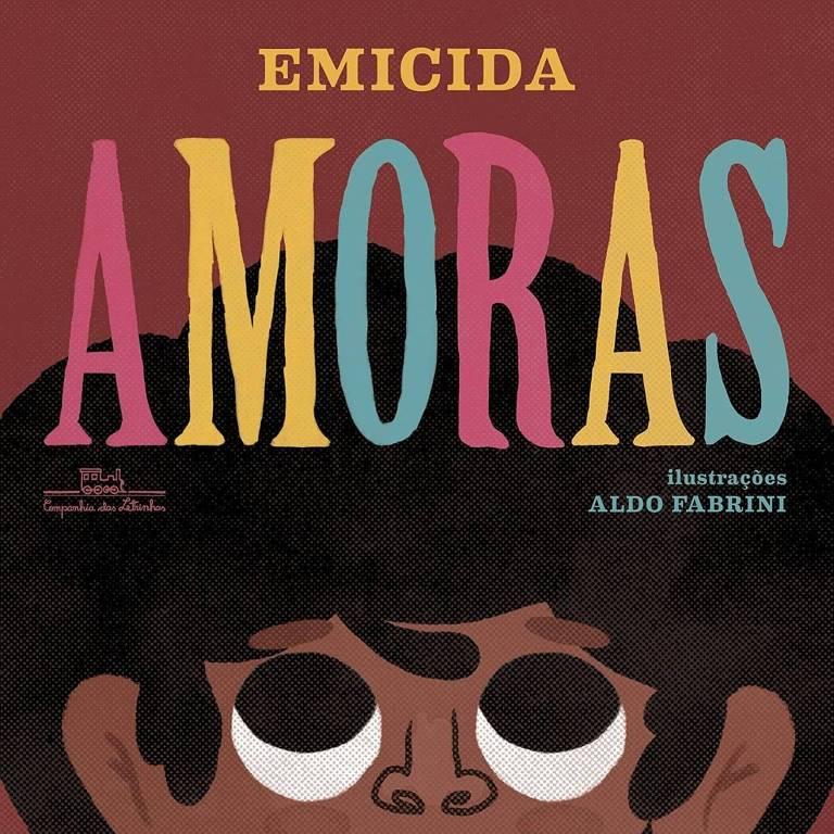 """Capa do livro """"Amoras"""", de Emicida"""