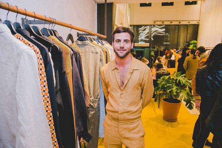 O estilista André Namitala, da marca carioca Handred