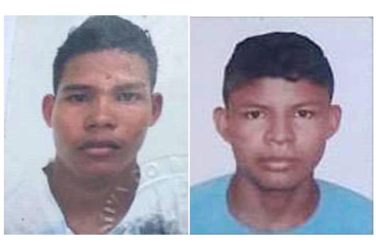 Josimar Moraes Lopes, 26, cujo corpo foi encontrado no igarapé Bem Assim, na região de Borba (AM); seu irmão Josivan, 18, à dir. continua desaparecido; a imagem é uma montagem de duas fotos 3x4, retiradas de documentos dos irmãos