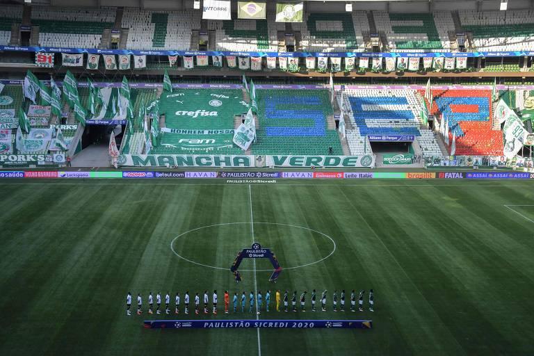 Estádio decorado