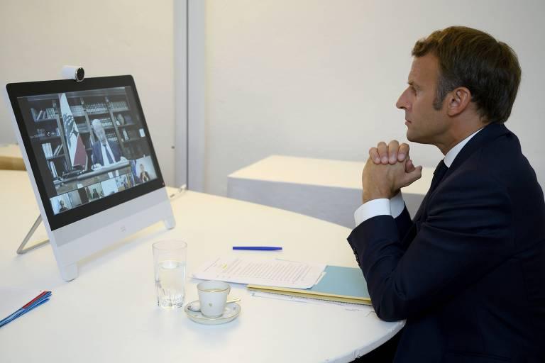 O futuro do Líbano está em jogo, diz Macron em conferência virtual
