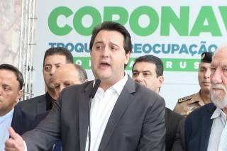 Governador Ratinho Jr Novas medidas restritivas no Paraná