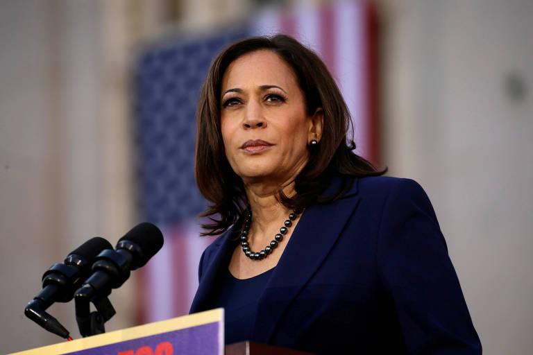 A senadora pela Califórnia Kamala Harris, anunciada como candidata a vice-presidente na chapa de Joe Biden