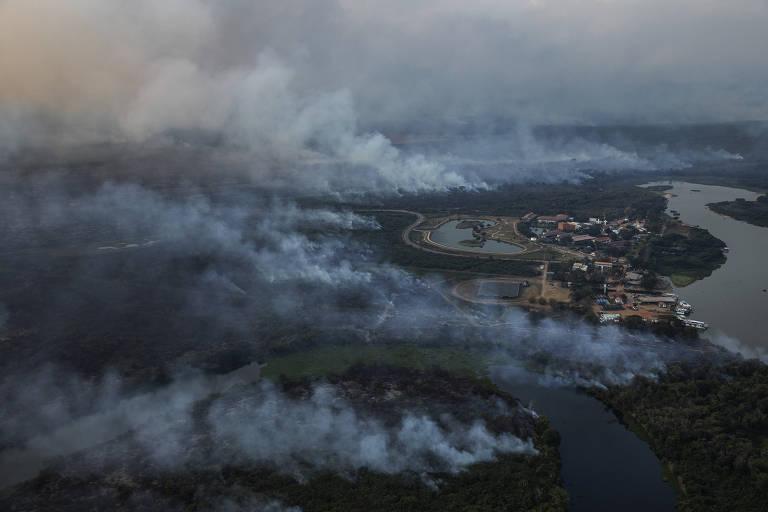 Incêndio no Pantanal avança