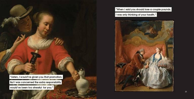 "Ilustrações de ""Men to Avoid in Art and Life"", de Nicole Tersigni"