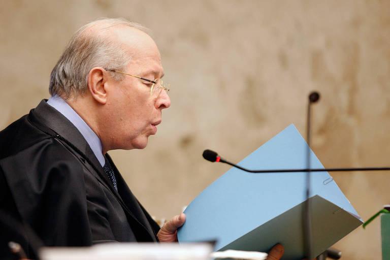 Ministro Celso de Mello durante sessão do STF