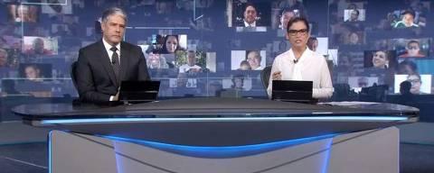 William Bonner e Renata Vasconcellos apresentam edição do JN que anuncia mais de 50 mil mortos pela Covid-19
