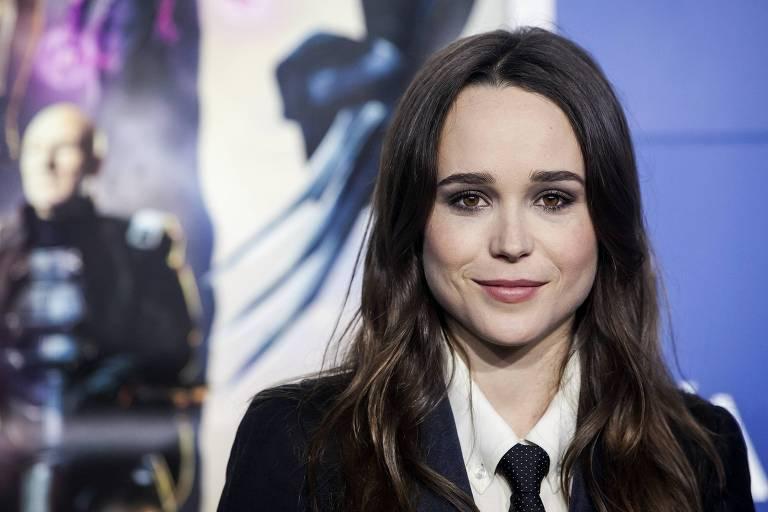 """A atriz Ellen Page no lançamento de """"X-Men: Days of Future Past"""""""