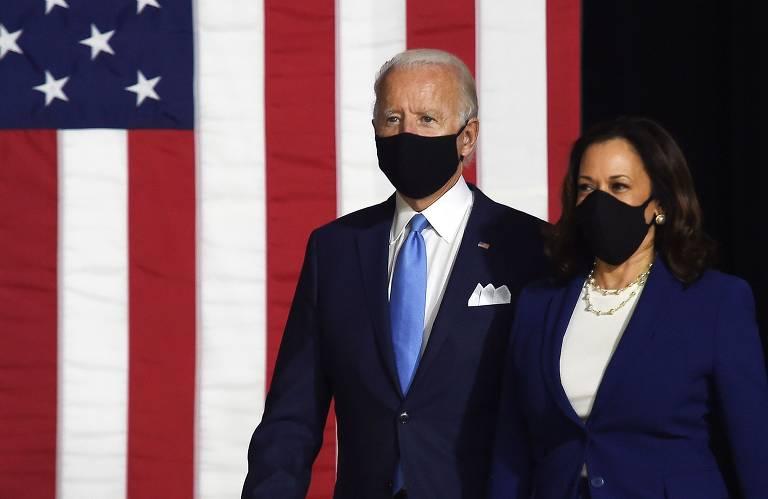 Joe Biden e Kamala Harris fazem a primeira aparição juntos; veja fotos de hoje
