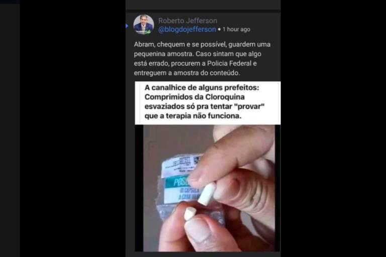 Postagem com cápsula vazia não prova conspiração de prefeitos contra cloroquina