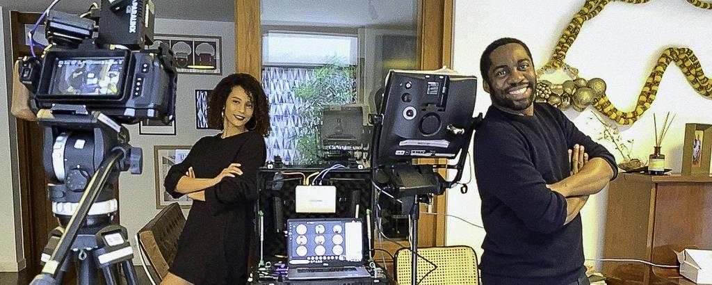 Taís Araujo e Lázaro Ramos gravam de casa episódio de 'Amor e Sorte'