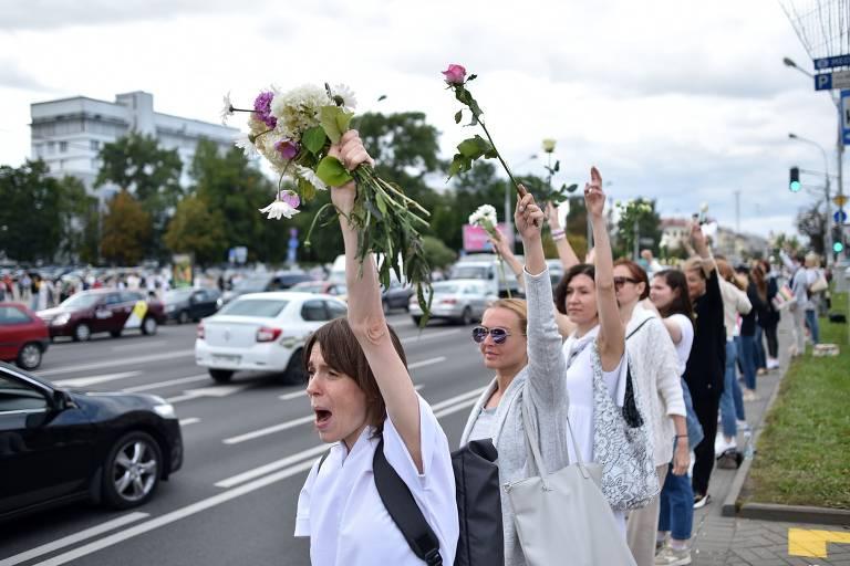 5º dia de protestos na Belarus