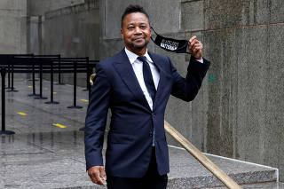 Actor Cuba Gooding Jr. departs after a hearing at New York Criminal Court in the Manhattan borough of New York