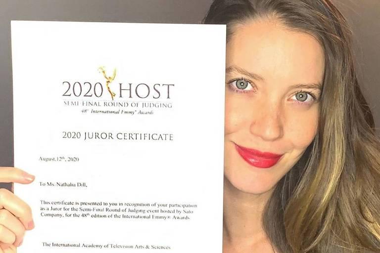 Nathalia Dill comemora convite para ser jurada do Emmy Internacional: 'Uma honra'