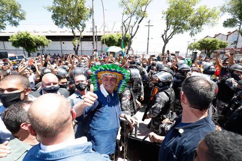 BELEM, PA, 13-8-2020  -  O presidente da república  Jair Bolsonaro durante Visita ao Porto de Belém, no Para. Foto: Alan Santos/PR