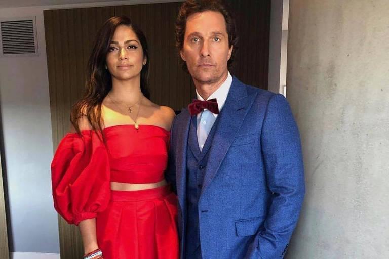 Matthew McConaughey  e a esposa brasileira Camila Alves