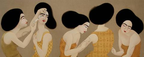 Obra da artista plástica iraquiana Hayv Kahraman