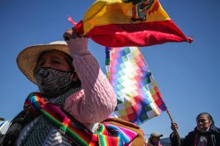 BOLIVIA-EL ALTO-BLOQUEO DE CAMINOS