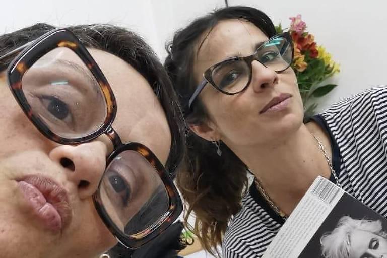 A diretora Mika Lins e a atriz Maria Ribeiro