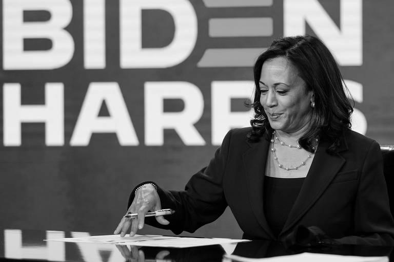 A candidata a vice-presidente dos EUA na chapa de Joe Biden, Kamala Harris