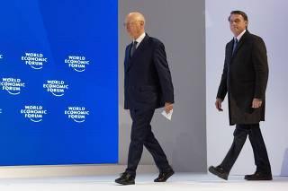 Klaus Schwab, e o presidente do Brasil, Jair Bolsonaro