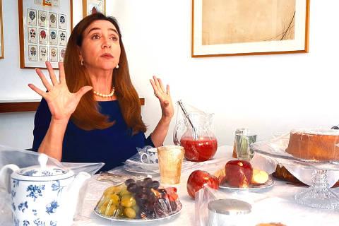Marisa Orth e o Diogo Vilela grava o programa Zorra em casa