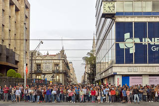 Cena registrada na Cidade do México