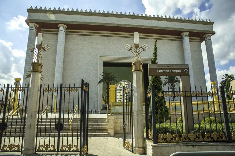 Fechada do Templo de Salomão, da Igreja Universal do Reino de Deus, em São Paulo