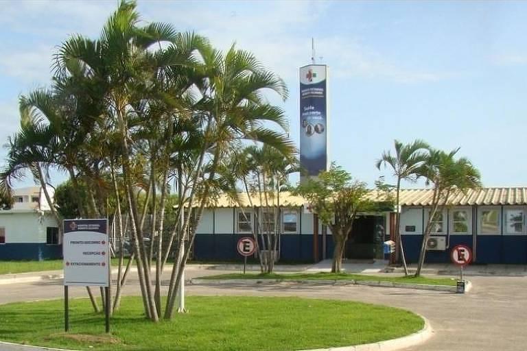 Entrada do Hospital Estadual Roberto Silvares, em São Mateus, onde menina grávida foi atendida