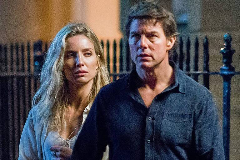"Tom Cruise e Annabelle Wallis e ""A Múmia"" (2017)"