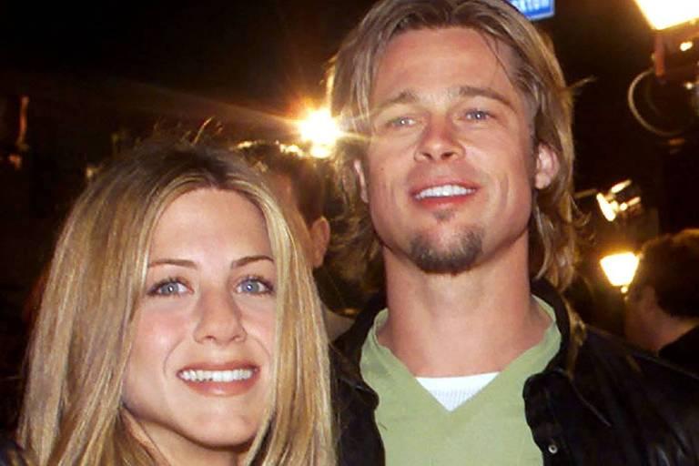 O ator Brad Pitt e a atriz Jennifer Aniston
