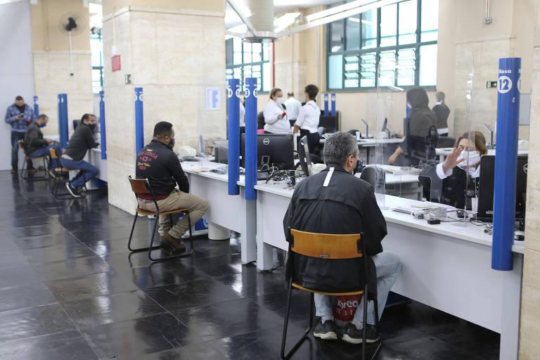 O Poupatempo Sé reabriu ao atendimento ao público na quarta-feira (19), seguindo o Plano São Paulo da pandemia